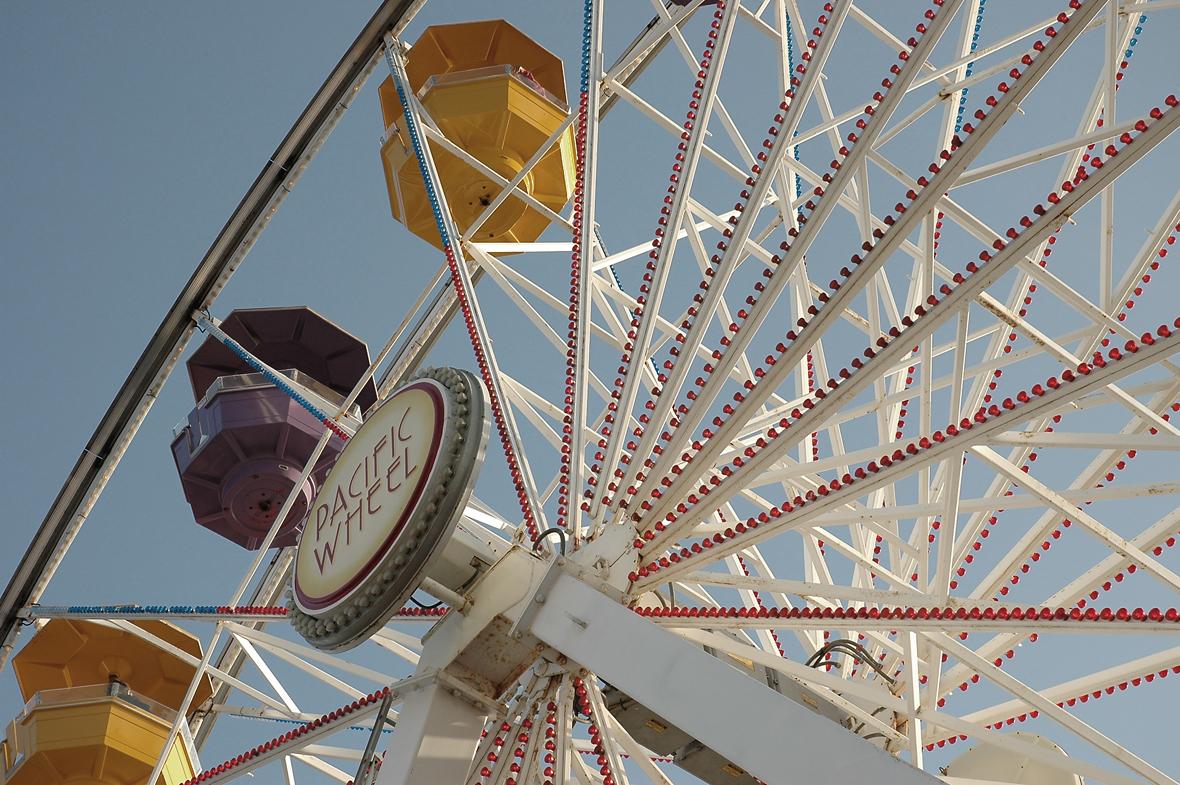 santa monica, pacific wheel, fun